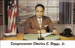 CHARLES C. DIGGS JR. - PRINTED PHOTOGRAPH SIGNED IN INK