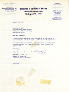 Autographs: CHARLES C. DIGGS JR. - TYPED LETTER SIGNED 08/12/1971