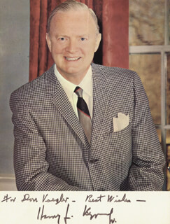 Autographs: HARRY F. BYRD JR. - INSCRIBED PHOTOGRAPH SIGNED