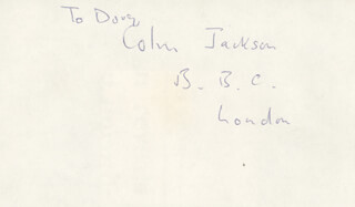 COLIN JACKSON - INSCRIBED SIGNATURE