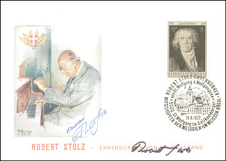 ROBERT STOLZ - COMMEMORATIVE ENVELOPE SIGNED