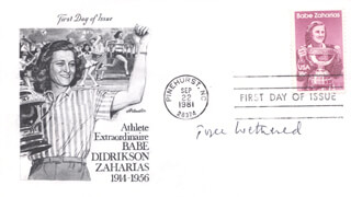 JOYCE WETHERED - FIRST DAY COVER SIGNED