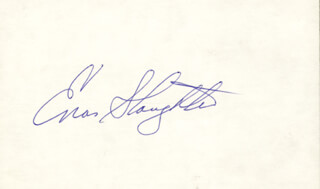 ENOS SLAUGHTER - AUTOGRAPH