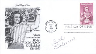 BETH SOLOMON - FIRST DAY COVER SIGNED