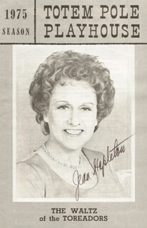 JEAN STAPLETON - PROGRAM SIGNED
