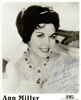 ANN MILLER - AUTOGRAPHED INSCRIBED PHOTOGRAPH 1976