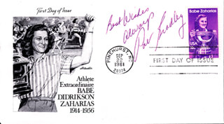 PAT BRADLEY - FIRST DAY COVER WITH AUTOGRAPH SENTIMENT SIGNED