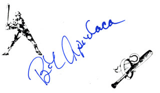 BOB APODACA - PRINTED CARD SIGNED IN INK