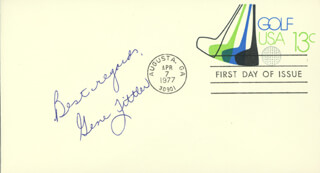 GENE LITTLER - FIRST DAY COVER WITH AUTOGRAPH SENTIMENT SIGNED