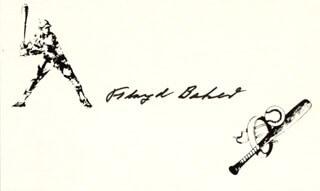 FLOYD BAKER - PRINTED CARD SIGNED IN INK
