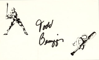 TODD BENZINGER - PRINTED CARD SIGNED IN INK
