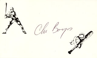 CHRISTOPHER BOURJOS - PRINTED CARD SIGNED IN INK