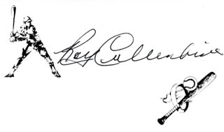 ROY CULLENBINE - PRINTED CARD SIGNED IN INK