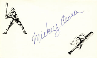 MICKEY OWEN - PRINTED CARD SIGNED IN INK