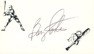 BARRY FOOTE - PRINTED CARD SIGNED IN INK