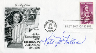 KATHY McMULLEN - FIRST DAY COVER SIGNED