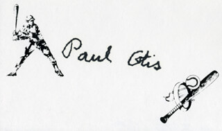 BILL (PAUL) OTIS - PRINTED CARD SIGNED IN INK
