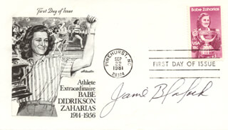 JANE BLALOCK - FIRST DAY COVER SIGNED