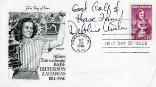 DEBORAH DEBBIE AUSTIN - AUTOGRAPH SENTIMENT ON FIRST DAY COVER SIGNED