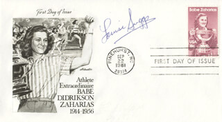 LOUISE SUGGS - FIRST DAY COVER SIGNED