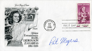 PAT MEYERS - FIRST DAY COVER SIGNED