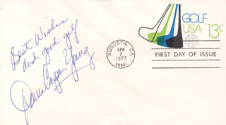 DONNA CAPONI - FIRST DAY COVER WITH AUTOGRAPH SENTIMENT SIGNED