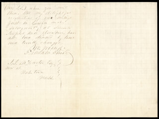 PRESIDENT FRANKLIN PIERCE - AUTOGRAPH LETTER SIGNED 10/19/1868