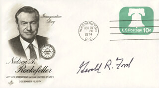 PRESIDENT GERALD R. FORD - INAUGURATION DAY COVER SIGNED