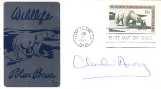 CLEVELAND AMORY - FIRST DAY COVER SIGNED