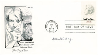 ALLEN GINSBERG - FIRST DAY COVER SIGNED