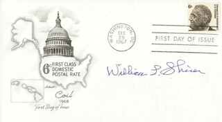 WILLIAM L. SHIRER - FIRST DAY COVER SIGNED