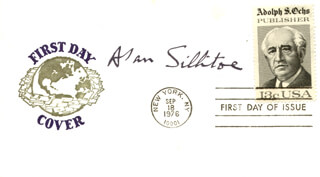 ALAN SILLITOE - FIRST DAY COVER SIGNED
