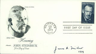 JAMES A. MICHENER - FIRST DAY COVER SIGNED 1979