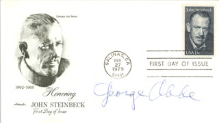 GEORGE ABBE - FIRST DAY COVER SIGNED