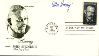 ALLEN DRURY - FIRST DAY COVER SIGNED