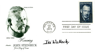 IRA WALLACH - FIRST DAY COVER SIGNED