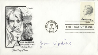 JOHN UPDIKE - FIRST DAY COVER SIGNED