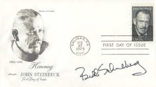 BUDD SCHULBERG - AUTOGRAPH NOTE DOUBLE SIGNED