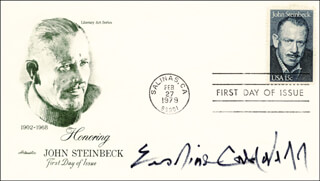 ERSKINE CALDWELL - FIRST DAY COVER SIGNED