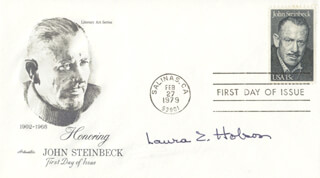 LAURA Z. HOBSON - FIRST DAY COVER SIGNED