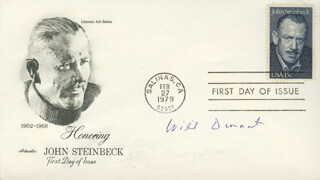 WILL DURANT - FIRST DAY COVER SIGNED