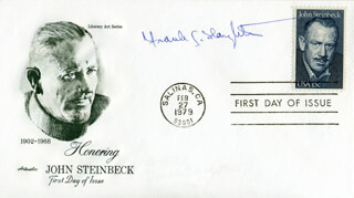 FRANK G. SLAUGHTER - FIRST DAY COVER SIGNED