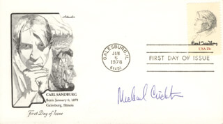 MICHAEL CRICHTON - FIRST DAY COVER SIGNED