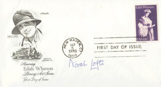 NORAH LOFTS - FIRST DAY COVER SIGNED