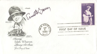 ERNEST K. GANN - FIRST DAY COVER SIGNED