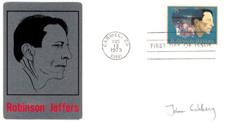 Autographs: JOHN L. ASHBERY - FIRST DAY COVER SIGNED