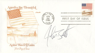 JOHN BARTH - FIRST DAY COVER SIGNED