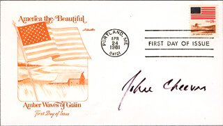 JOHN CHEEVER - FIRST DAY COVER SIGNED