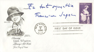 FRANCOISE SAGAN - FIRST DAY COVER SIGNED