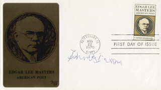 SIR JOHN BETJEMAN - FIRST DAY COVER SIGNED